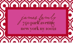 swirl pattern red;address labels