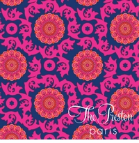 ubud pattern navy and pink