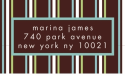 urban stripe; address labels