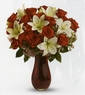 Beauty Red Rose & Lily Passion Bouquet