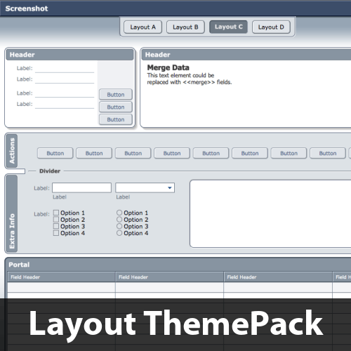 Gradient Soup Layout ThemePack