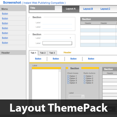 Internet Hues Layout ThemePack