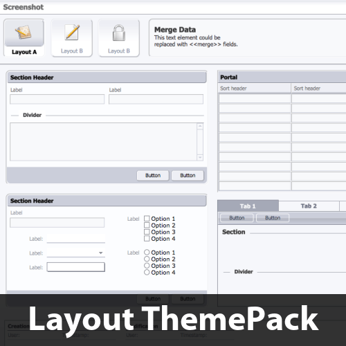 Soft, Light & Icey Layout ThemePack