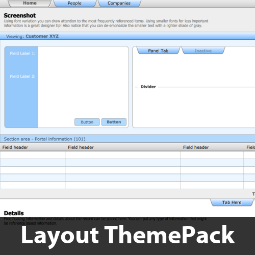 Tabs Down Layout ThemePack