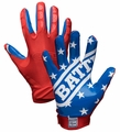 Battle Sports American Flag Football Gloves (Free Shipping)