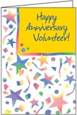 AH415V - Thank You for Sharing Volunteer Anniversary Cards