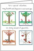 B175V - Health and Happiness Volunteer Birthday Cards
