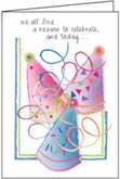 B186 - Party Hat Birthday Cards