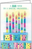 B5105V - Candles Birthday Cards for Volunteers