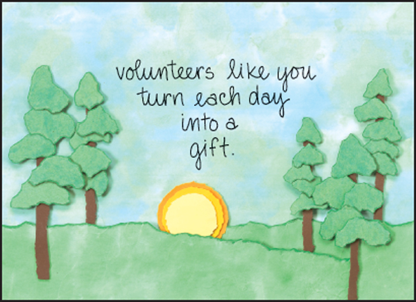Shop for Volunteer Cards   Thank You Cards and More   it takes two ...