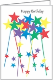 BL268V - Star Volunteer Birthday Note Cards