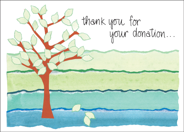 Charity Card | Donation Thank You Cards | Order Thank You Notes ...