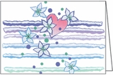 BL43C - Heart and Flowers Note Cards