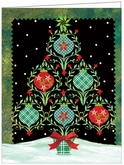 CH01 - Bright Night Tree Holiday Card