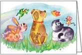 DBL03 - Dog and Friends Note Cards