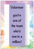 DNP04V - Rainbow Border Volunteer Note Pad