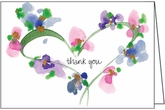 FBL03 - Heart Floral Thank You Notes