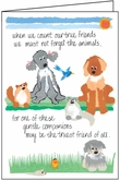 G447 - Animal Friends Veterinary Sympathy Card