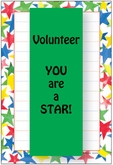 HNP58V - Stars Border Volunteer Note Pad