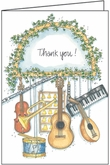 LBL55 - Thank You Music Note Cards