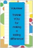 NP45V - Dots Border Volunteer Note Pad