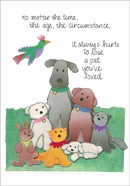 P408 - Loss of Pet Sympathy Cards