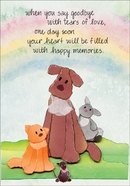 P413 - Tears of Love Pet Loss Cards