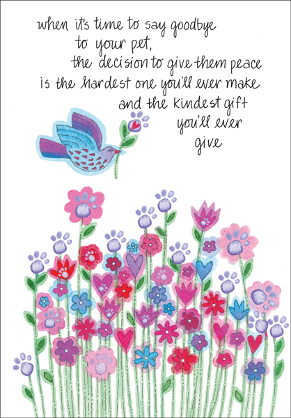 Sympathy Cards for Pets