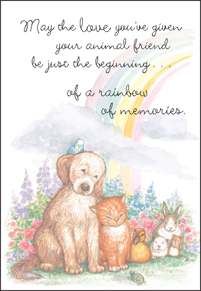 Ministry With Sympathy Loss of Pet Cards | it...