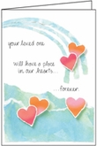 S221H - Lifted in Thoughts and Prayer Anniversary of Loss Cards