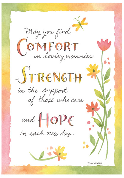 Comfort Strength And Hope Sympathy Card It Takes Two Inc