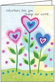 T5301V - One Heart Volunteer Thank You Cards