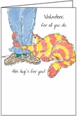 T7303V - This Hug Volunteer Thank You Cards