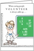 TH301V - It all Adds Up Volunteer Thank You Cards