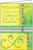 TH304V - Reason to Celebrate Volunteer Thank You Cards