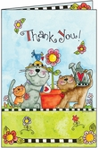 TU301V - Whimsical Pet Volunteer Thank You Cards
