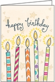 UBL05V - Candles Birthday Note Cards for Volunteers