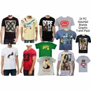 <b>24 Pcs Brand Name & Graphic T-shirts - $6.90/pc</b> - M-VP-24