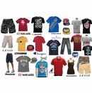 <b>50 Pc Urban Wear Assortment - $6.50/pc</b>