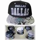 Dallas Snakeskin Embroidered Snapback Hats - $6.50