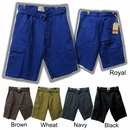 Men's Ripstop Cargo Shorts with Belt - Great Colors - $9.50/pc.