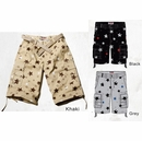 Men's STARS Print Cargo Belted Shorts