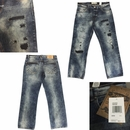 Wholesale Akademiks Rip Repair Denim Jeans - $18.50/pc - M-AKD-2N23-VINT