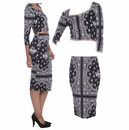 Wholesale Coogi Ladies Paisley Skirt Set - S-L