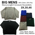 Wholesale Men's Heavyweight Fleece Sweatshirts - $5.50/pc - M-TRO-1SWS-BIG