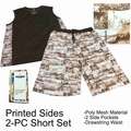 Wholesale Men's Poly Mesh 2-PC Sets - Brown