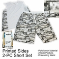 Wholesale Men's Poly Mesh 2-PC Sets - White