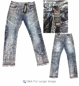 Wholesale Normcore Fashion Moto Biker Rip Slim Straight Fit Jeans - $32.50/pc - M-NRC-2391-SIL - Click to enlarge