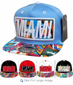 Wholesale Snapback Hats - Aztek Miami - Click to enlarge