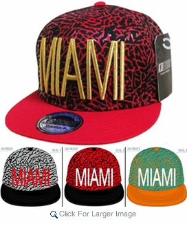 Wholesale Snapback Hats - Miami - Click to enlarge